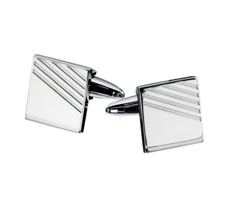 FRED BENNETT S/STEEL RIBBED CUFFLINKS V415