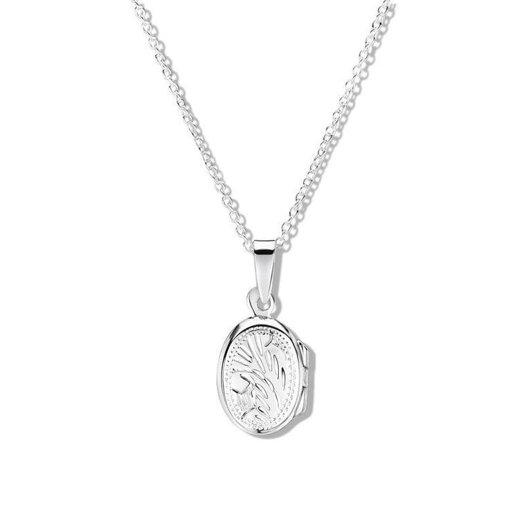 JO FOR GIRLS SILVER FLAT OVAL LOCKET CP63