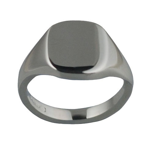 925 Silver Plain Square Signet Ring H98S00