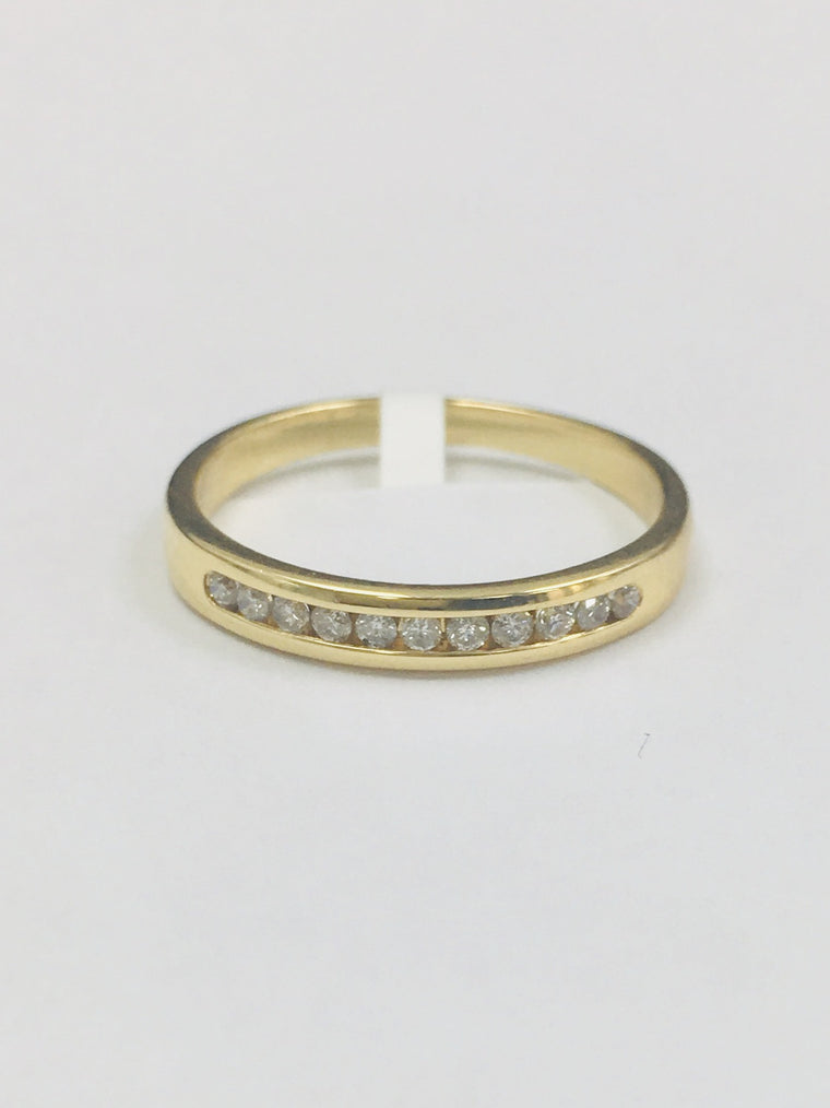 18ct Yellow Gold 0.20cts Diamond Eternity Ring 27042019