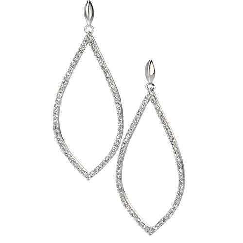 FIORELLI SILVER CZ PAVE EARRINGS E4860C