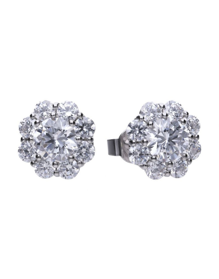 Diamonfire Flower Cluster Earrings E5587