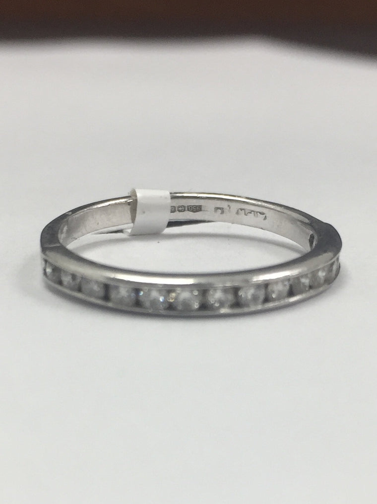 PLATINUM 2MM 0.30CTS DIAMOND ETERNITY RING