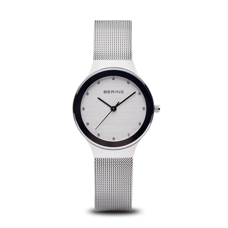 Bering Womans Classic Polished Silver Watch 12934-060 - Robert Openshaw Fine Jewellery