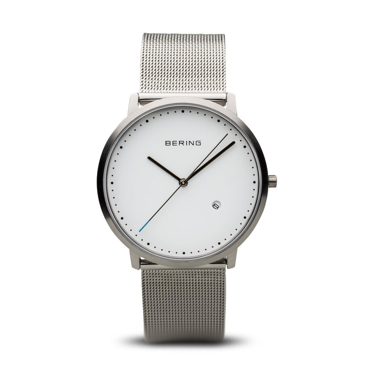 Bering Unisex Classic Brushed Silver Watch 11139-004