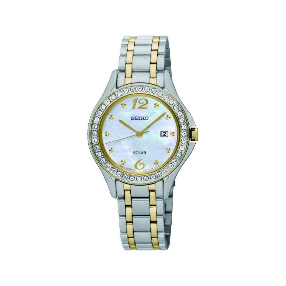 SEIKO LADIES TT SOLAR 30M WATCH SUT312P9 - Robert Openshaw Fine Jewellery