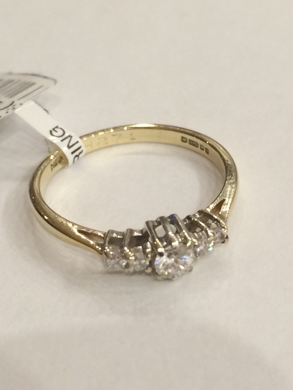 9CT YG 5 STONE 0.22cts DIAMOND RING ASQUITH - Robert Openshaw Fine Jewellery