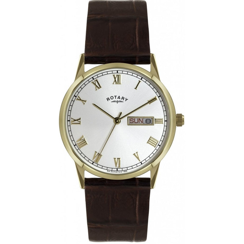 ROTARY GENTS GOLD LEATHER STRAP WATCH GS02753/09 - Robert Openshaw Fine Jewellery