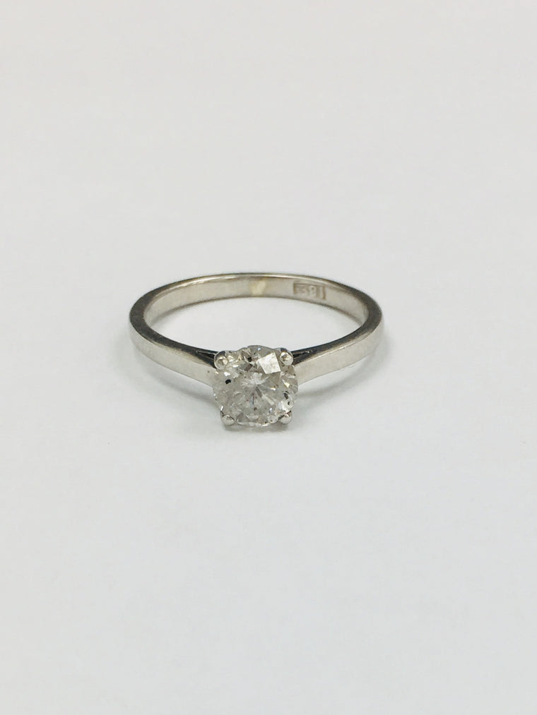 18ct White Gold 0.85cts Diamond Ring - WALTON2