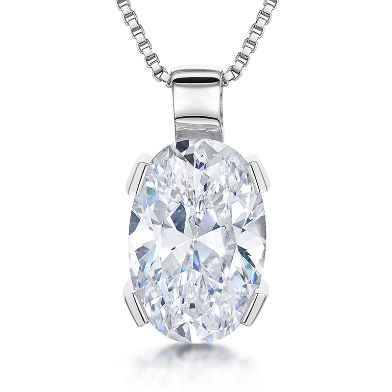 JOOLS 925 Oval CZ Necklace KPN2787 - Robert Openshaw Fine Jewellery