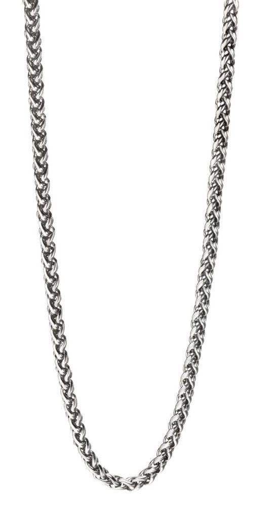 Fred Bennett Steel Twisted Link Necklace N4209