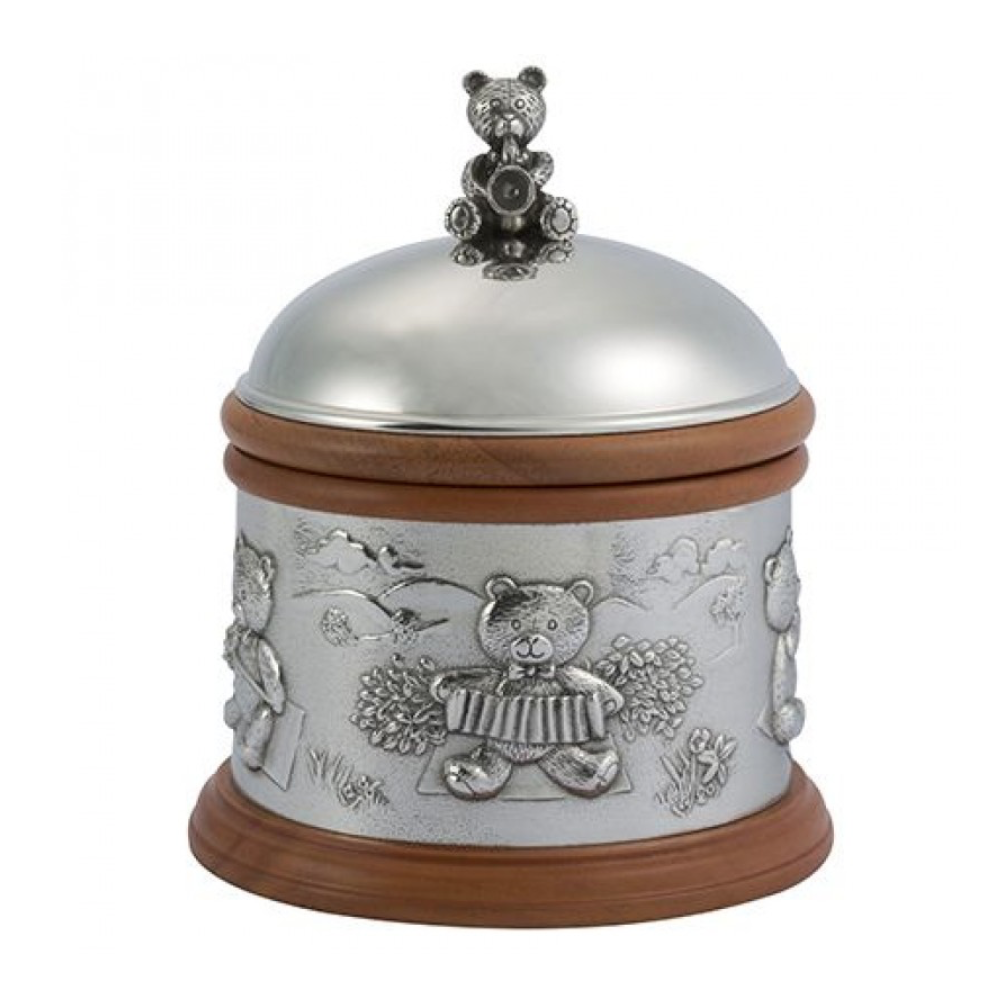 ROYAL SELANGOR TEDDY TRADITIONAL MUSIC BOX 016430R - Robert Openshaw Fine Jewellery