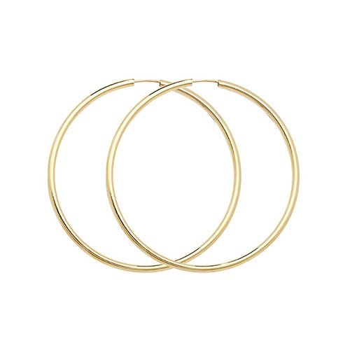 9ct Yellow Gold 27mm Sleepers ES123