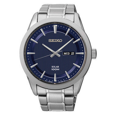 SEIKO MENS 100m DAY DATE BRACELET WATCH SNE361P1 - Robert Openshaw Fine Jewellery