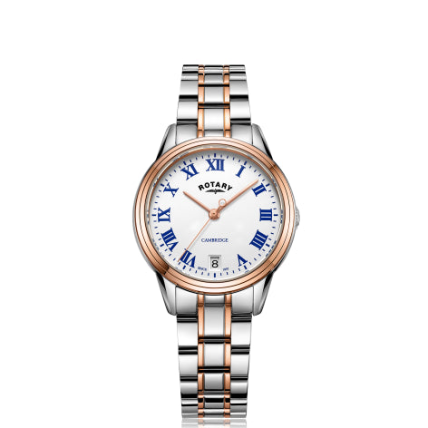 Rotary Two Tone Rose Gold Cambridge Ladies Quartz LB05260/01