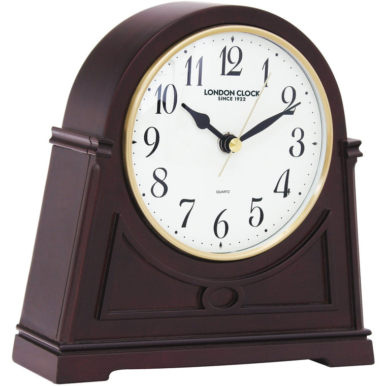 LONDON CLOCK CO DARK WOOD MANTLE CLOCK 03089