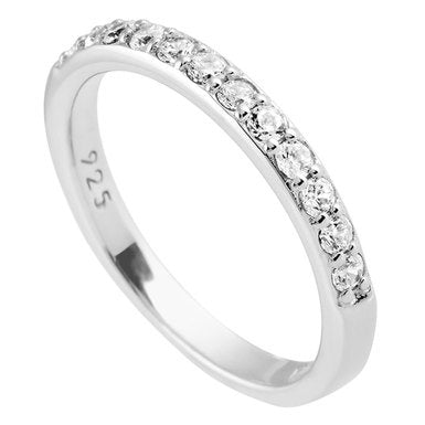 Diamonfire Silver CZ Eternity Ring 61-1799-1-582
