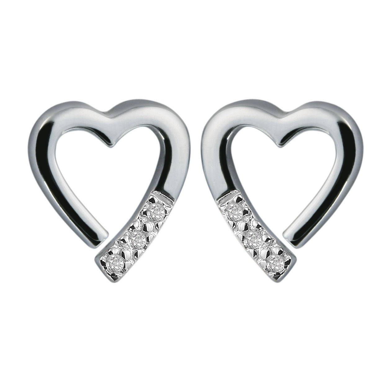 Hot Diamonds Silver Romantic Earrings DE110