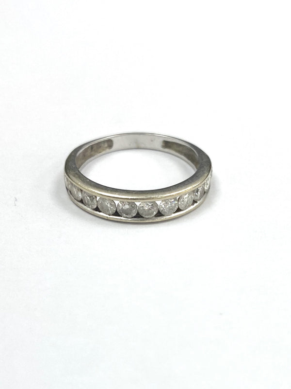 18ct White Gold Eleven Stone 0.60cts Diamond Eternity Ring