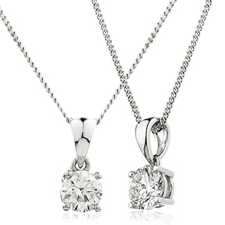 18ct Diamond Solitaire Pendant