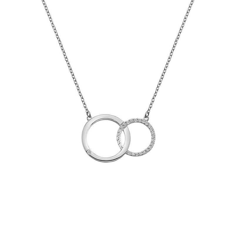 Hot Diamonds Silver Striking Circle Necklace DN127