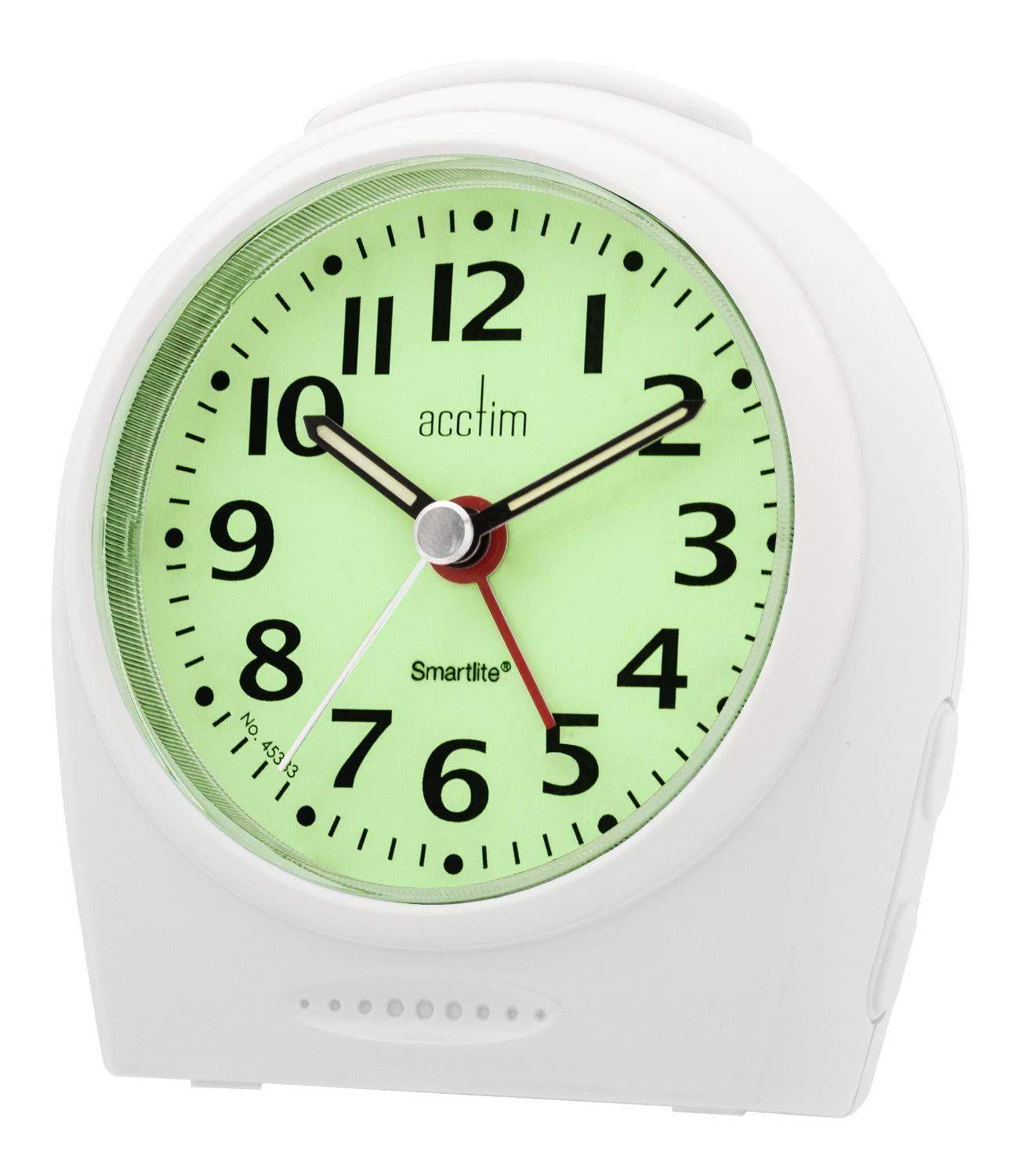 "Acctim ""Broadway"" Smartlite Sweeper Alarm in White 14982 - Robert Openshaw Fine Jewellery"