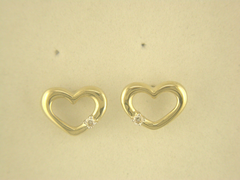 9CT YELLOW GOLD HEART EARRINGS 21-20004