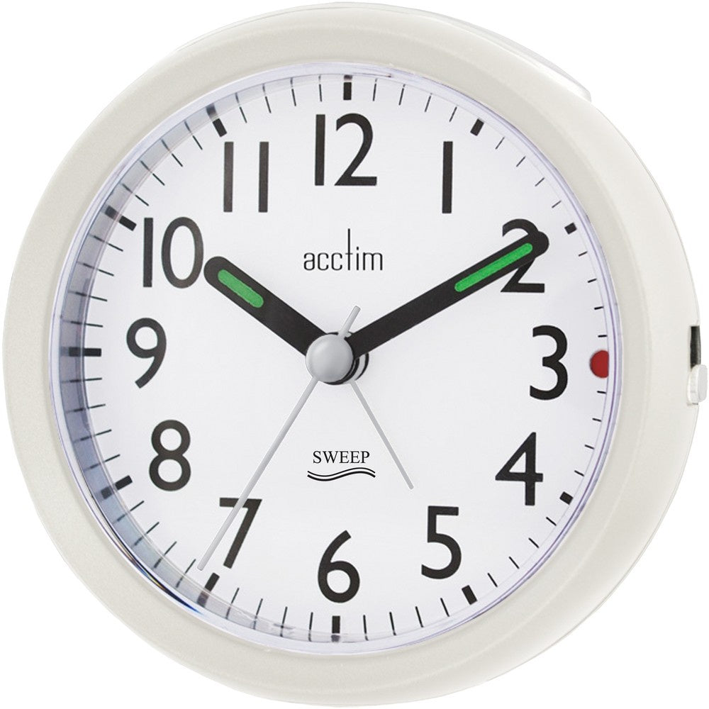"Acctim ""Ffion"" Sweep Alarm in Pearl White 15242 - Robert Openshaw Fine Jewellery"