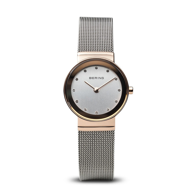 Bering Womens Classic Polished Rose Gold Watch 10126-066 - Robert Openshaw Fine Jewellery