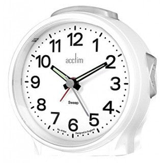 "Acctim ""Elsie"" Sweep Alarm in White 15572 - Robert Openshaw Fine Jewellery"