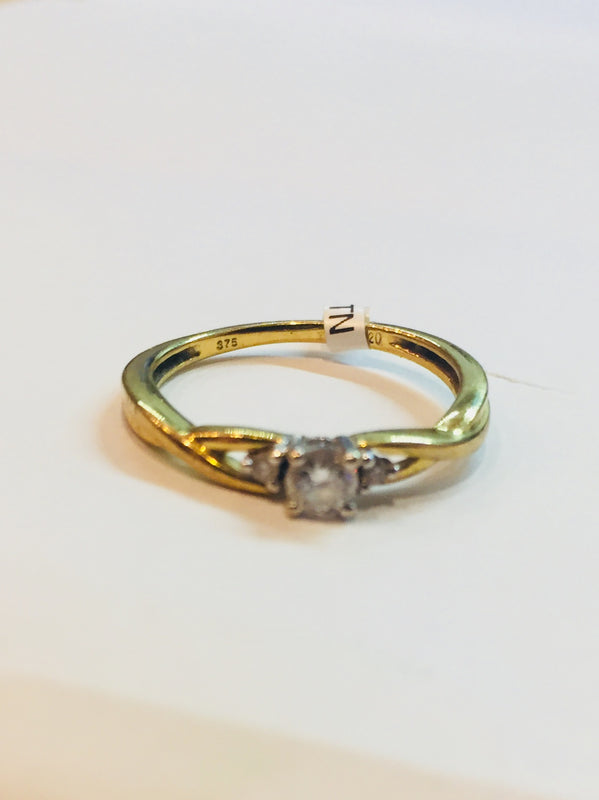 9ct Gold Three Stone 0.20cts Diamond Ring - BROOKE4 - Robert Openshaw Fine Jewellery