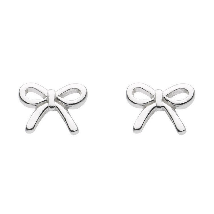 925 Silver Dinky Bow Stud Earrings E4842