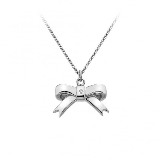 HOT DIAMONDS 925 RIBBON BOW PENDANT DP630P - Robert Openshaw Fine Jewellery