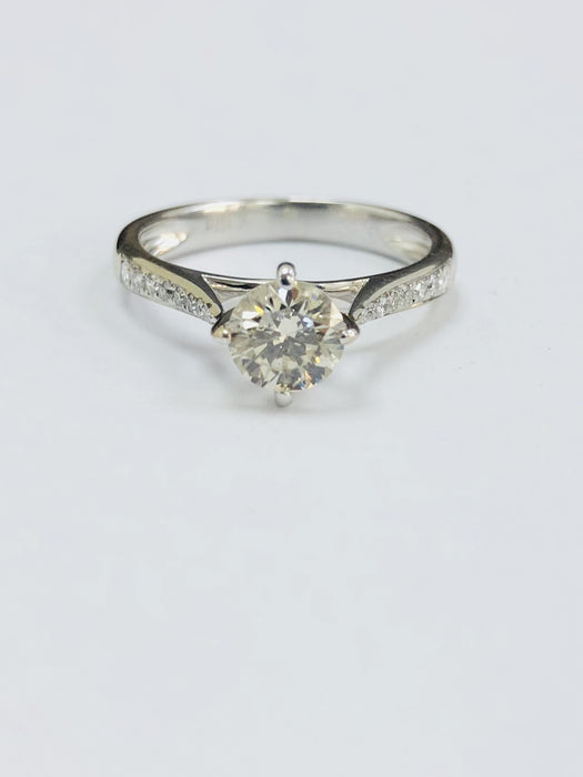 18ct White Gold 0.70cts Solitaire Diamond Ring - LAWLER - Robert Openshaw Fine Jewellery