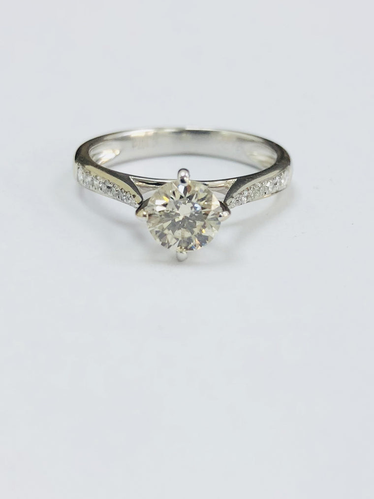 18ct White Gold 0.70cts Solitaire Diamond Ring