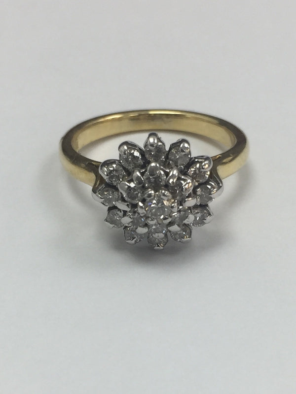 18ct Diamond Cluster ring - PEEL - Robert Openshaw Fine Jewellery