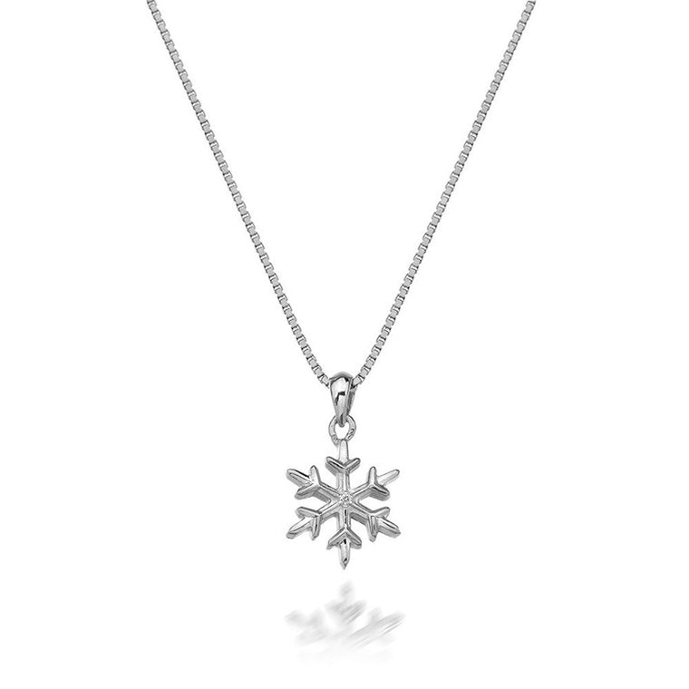HOT DIAMONDS SILVER SNOWFLAKE PENDANT DP599