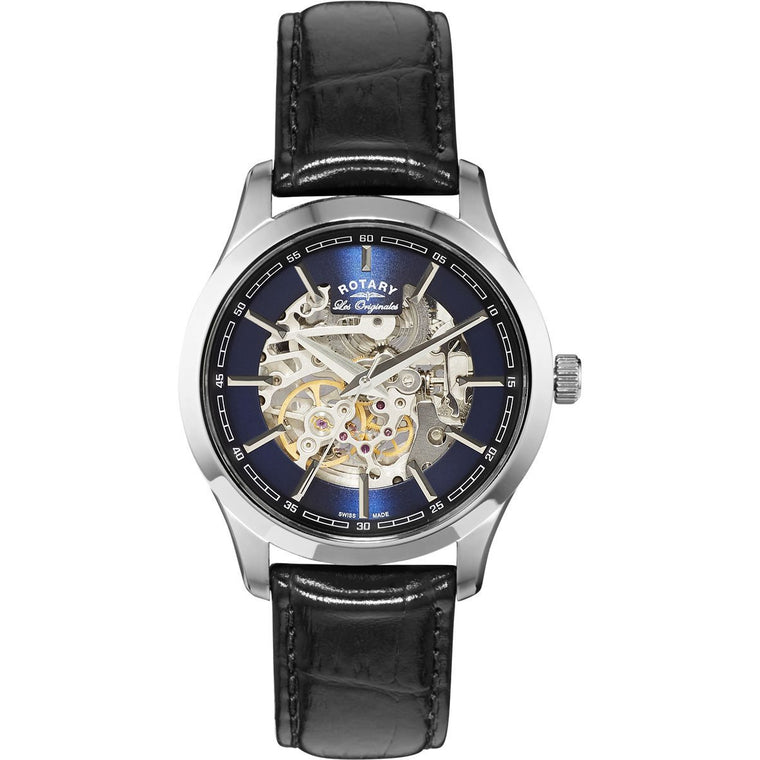 ROTARY GENTS AUTOMATIC LES ORIGINALS STRAP WATCH GS90525/05