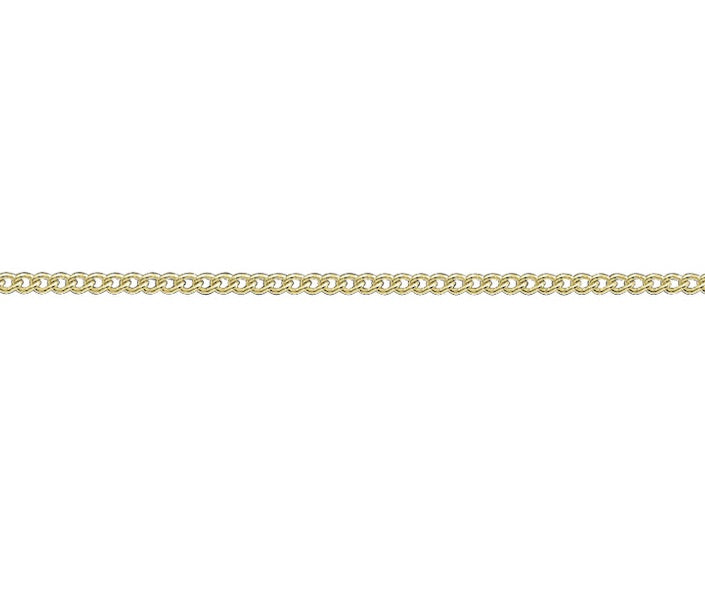 9ct Yellow Gold Curb Chain 16
