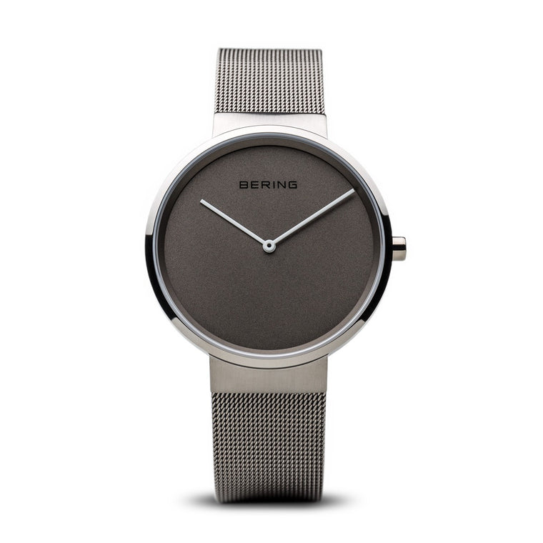 Bering Unisex Classic Brushed Silver Watch 14539-077