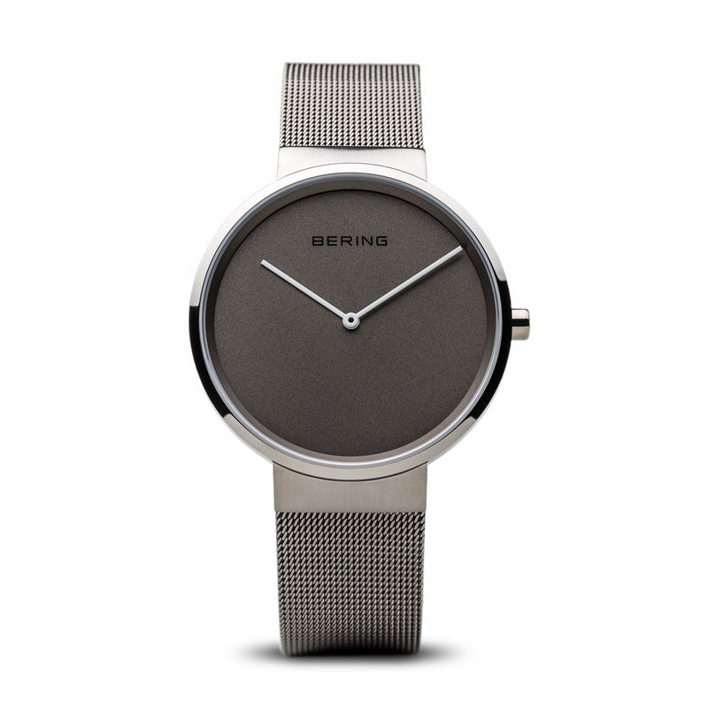 Bering Unisex Classic Brushed Silver Watch 14539-077 - Robert Openshaw Fine Jewellery