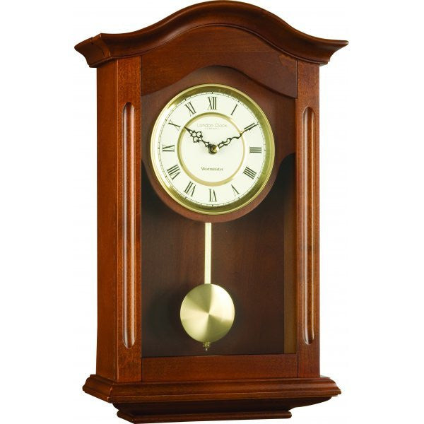 LONDON CLOCK CO WALNUT PENDULUM CLOCK 25054