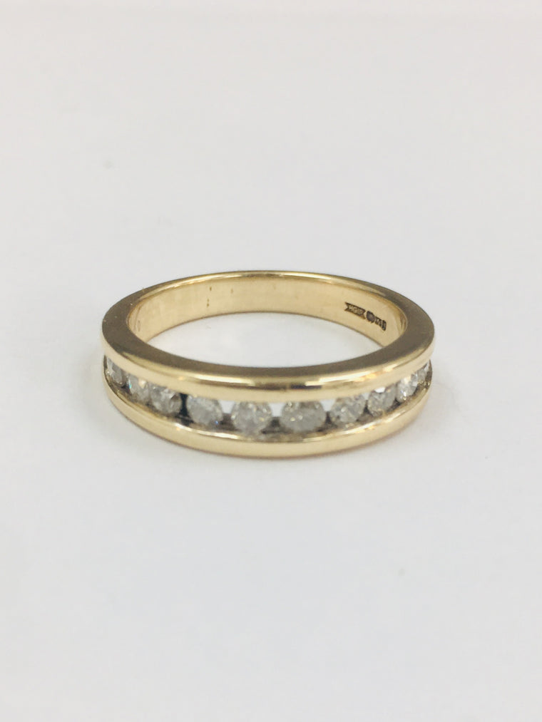 9ct Yellow Gold Eleven Stone Eternity Ring. 0.33cts