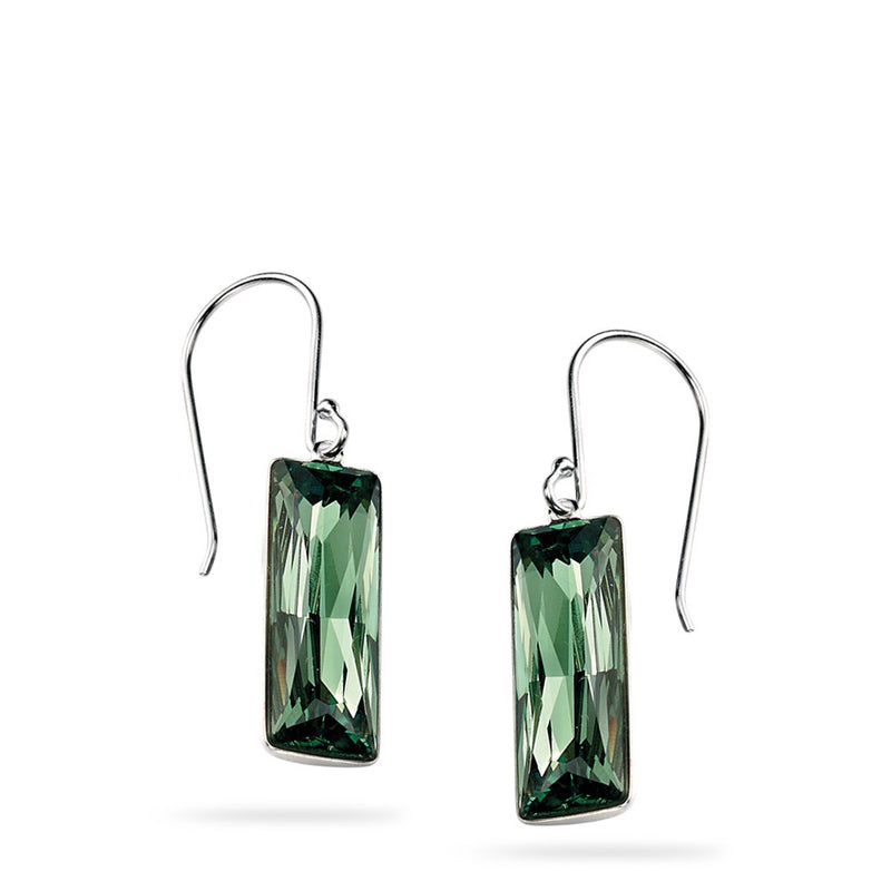 Silver Swarovski Erinite drop Earrings E4578G