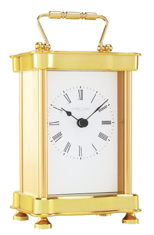 LONDON CLOCK CO GOLD FINISH CARRIAGE CLOCK 02076 - Robert Openshaw Fine Jewellery