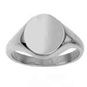 925 Silver Plain Round Signet Ring R60S00