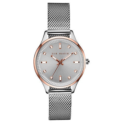 TED BAKER LADIES MESH WATCH TE10031190 - Robert Openshaw Fine Jewellery