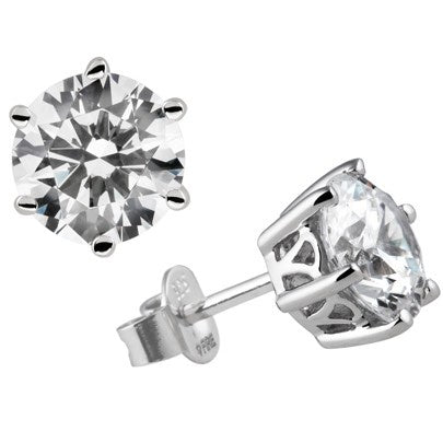 Diamonfire 6 Claw 1.00cts Solitaire Earrings E5630