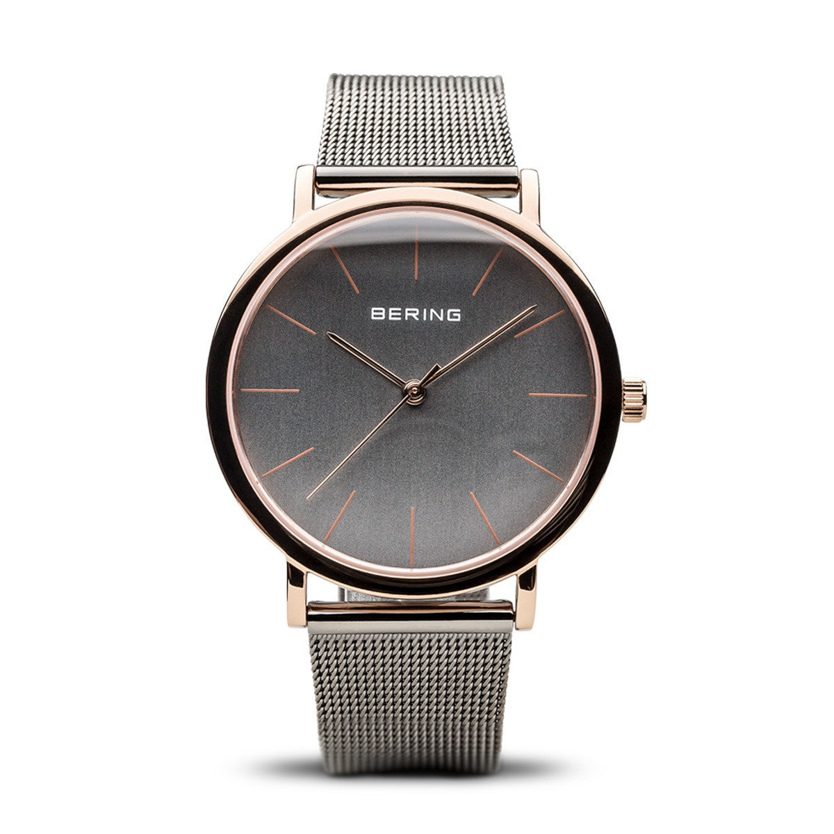 Bering Unisex Classic Polished Rose Gold Watch 13436-369 - Robert Openshaw Fine Jewellery