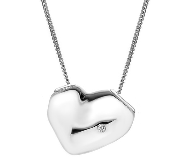 HOT DIAMONDS SILVER LUNAR HEART PENDANT DP575